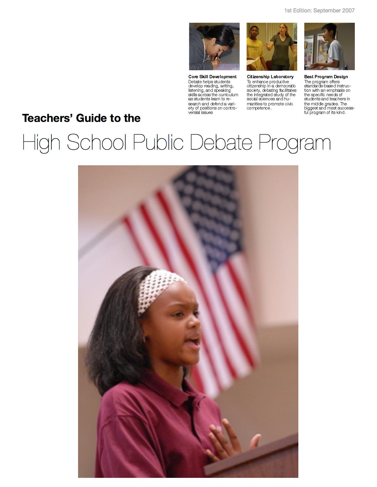 Teacher Guide for the HSPDP